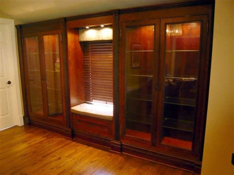 Made Cabinet Custom Built In Cherry Display Cabinets By Two Rivers