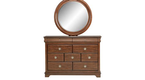 cherry dresser with mirror oberon cherry dresser mirror set