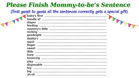 printable baby shower games  guests  surely enjoy