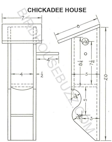 Chickadee House Plans Build A Chickadee Bird House With Free Plans