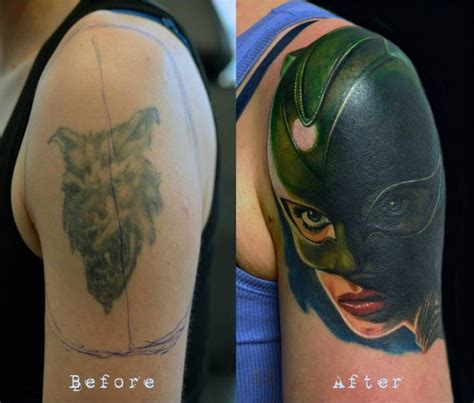 cat tattoo cover up 55 best before after images on pinterest tattoo ideas