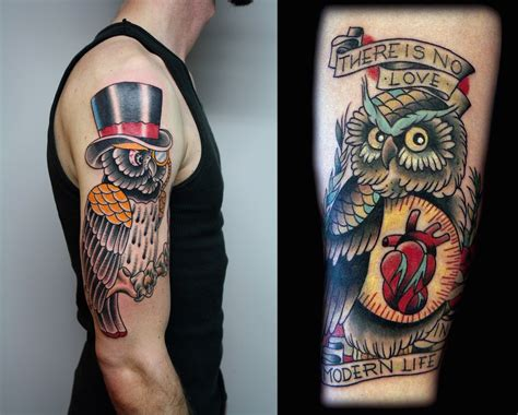 traditional owl tattoo 30 awesome traditional owl arm tattoos