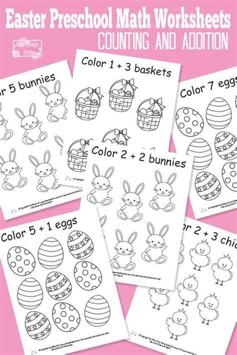 printable math easter worksheets easter preschool math worksheets preschool math
