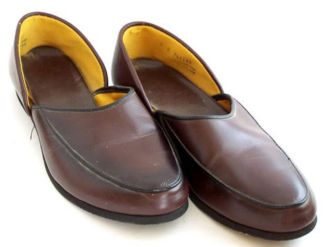 mens house slippers leather vintage mens house slippers ala father knows best