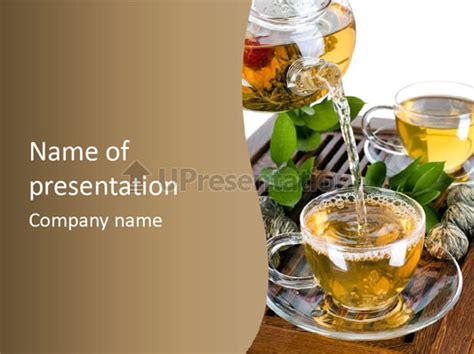Glass Green Tea Powerpoint Template Id 0000038575 Tea Ppt Template Free