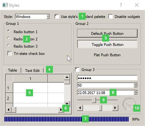qt designer layout border qt widget gallery qt widgets 5 10