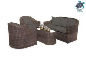 Sunbrella Outdoor Patio Furniture Outdoor Patio Rattan Furniture Conversation Set Brown W Sunbrella Fabrics Incl