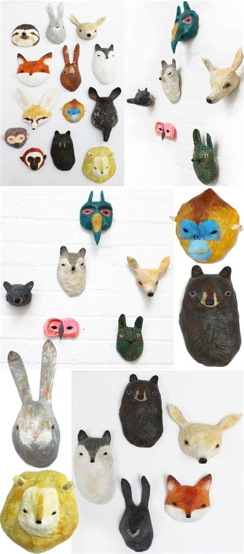 Paper Mache Animals - sevasblog things i like abigail brown