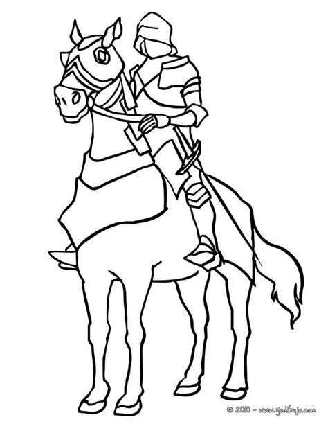 caballero infantil caballero fantasia dibujo projecte dibujos para colorear caballero en armadura con su caballo