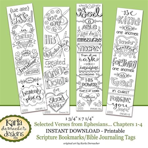 printable christmas journaling tags ephesians 1 4 color your own bookmarks bible journaling
