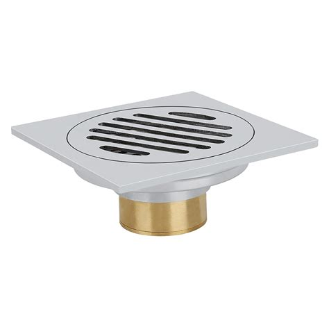 Gbs 10 Floor Drain stainless steel floor drainage shower trap shower drain 10 x 10cm b4m5