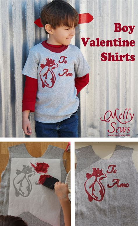 valentines day shirts for boys boy shirt tutorial and printable melly sews