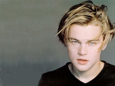 leo dicaprio young hairstyle images
