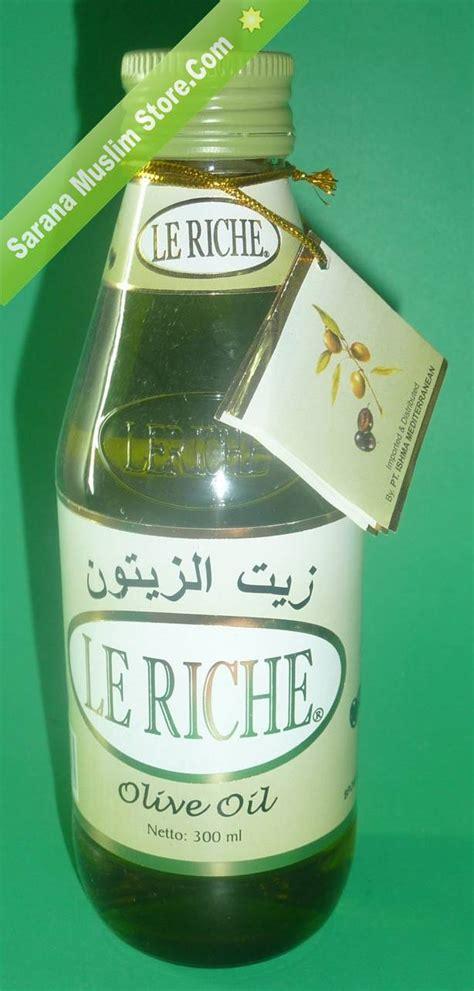 Minyak Zaitun Olive Le Riche Herbal Berkhasiat le riche olive minyak zaitun murni untuk kulit sehat sarana muslim store