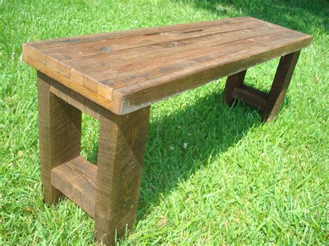 rustic wood bench bench wood bench gnarly bench rustic reclaimed wood bench