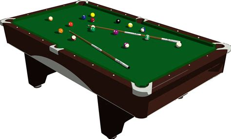 clipart pool table