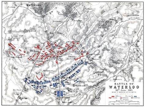 battle of waterloo map map of the battle of waterloo for alison s history