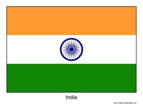 Flag Of India Printable Indian Flag