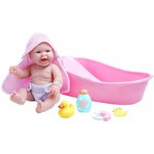 la newborn realistic baby doll bathtub set walmart