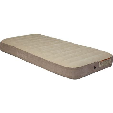 Intex Dura Beam Deluxe Fiber Matras intex 174 deluxe dura beam single high size airbed academy