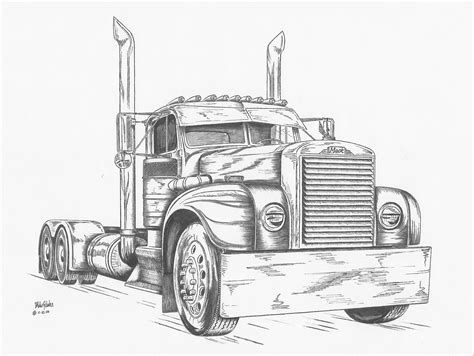 trucks drawings truck shop bigmacktrucks com