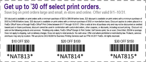 Fedex Office Coupon Code by Fedex Printing Coupons Discounts And Deals Fedex Office