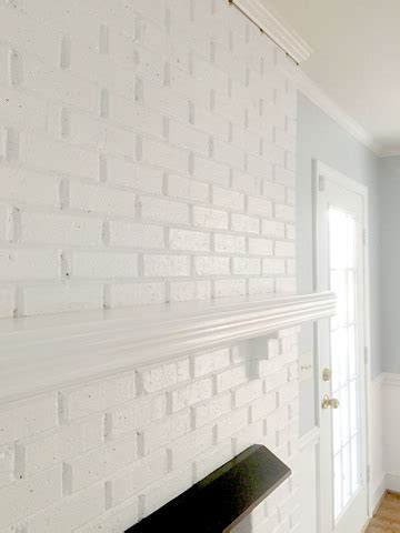 how to paint a brick fireplace white painting our brick fireplace white emily a clark