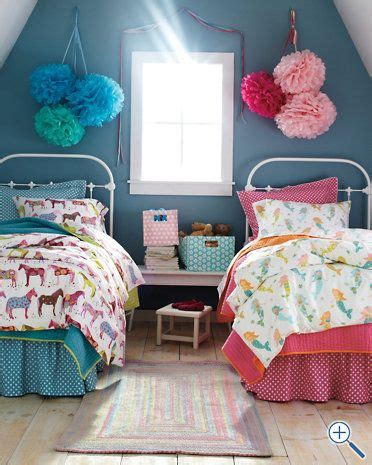 girly bed spread love love love the blue and floral 22 adorable girls shared bedroom designs mermaids girls