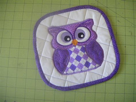 embroidery pattern holder free cute animal appliques for pot holders owl pot