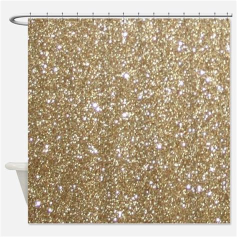 Shiny Gold Glitter Shower Curtains Shiny Gold Glitter