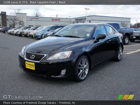 black lexus 2008 black sapphire pearl 2008 lexus is 350 black interior