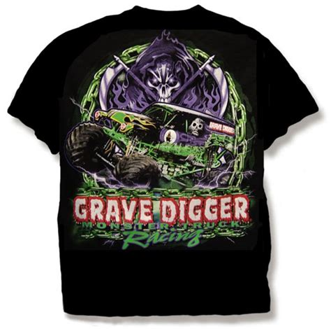 grave digger monster truck merchandise grave digger chain tee