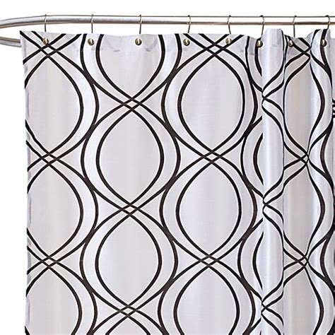 black and white fabric shower curtain dimension white and black fabric shower curtain bed bath
