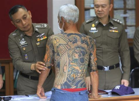 yakuza leader tattoo old yakuza boss arrested for unsolved murder after tattoos
