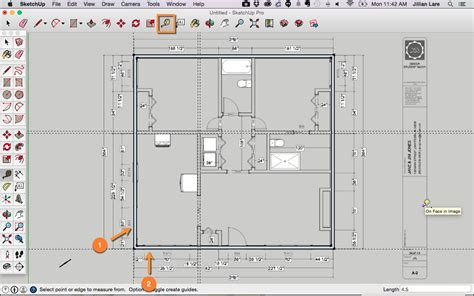 drawing floor plans with sketchup draw a floor plan in sketchup from a pdf tutorial