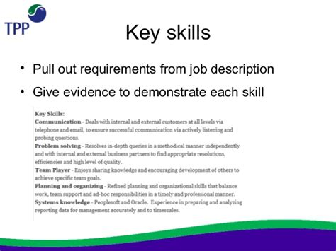 exle cv key skills tpp not for profit charity cv workshop