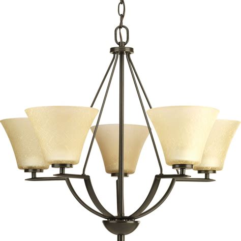 No Light Chandelier Shop Progress Lighting Bravo 27 In 5 Light Antique Bronze