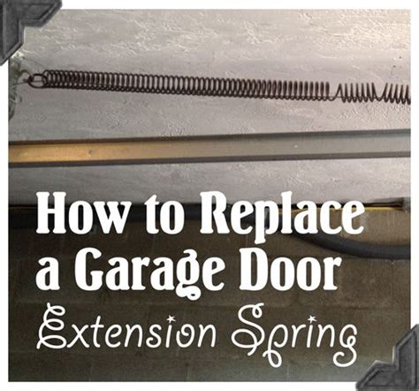 How To Replace Garage Door Springs How To Replace Garage Door Extension Springs Guest Post Home Repair Tutor Random For The