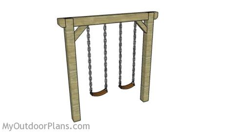 simple a frame swing plans simple swing set plans myoutdoorplans free woodworking