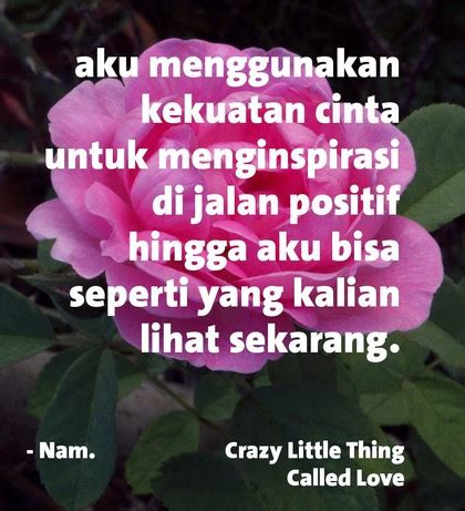 ml kata kata cinta  crazy   called love
