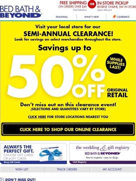 bed bath and beyond clearance bed bath and beyond up to 50 off clearance items milled