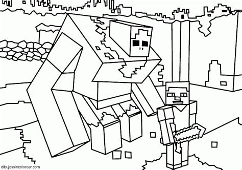 free coloring pages of minecraft zombies