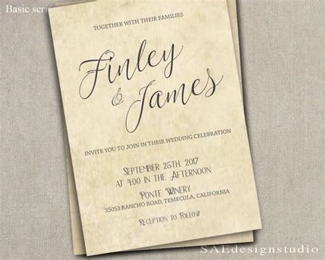PRINTED Country Rustic Wedding Invitation & Rsvp W/both
