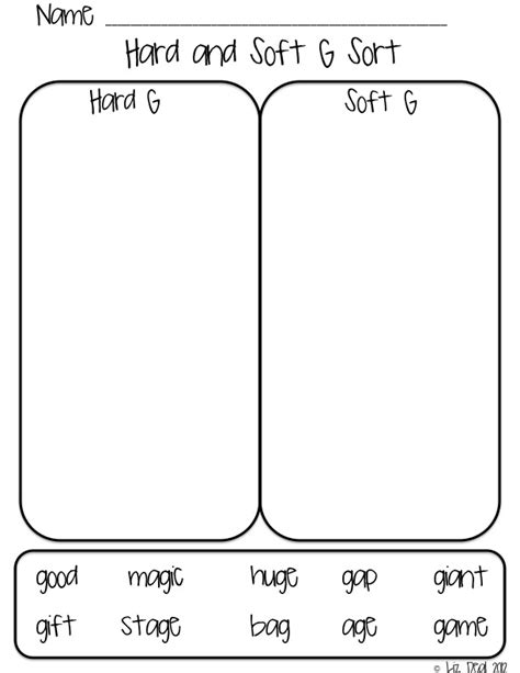 Soft C And G Worksheets by Polka Dot Firsties Soft C G