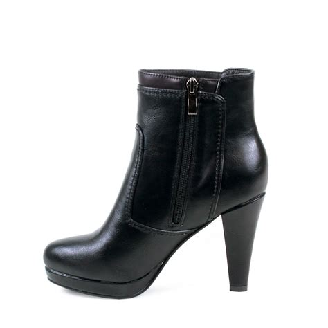 high heel black ankle boots reneeze mimi 05 womens classic high heel ankle high boots