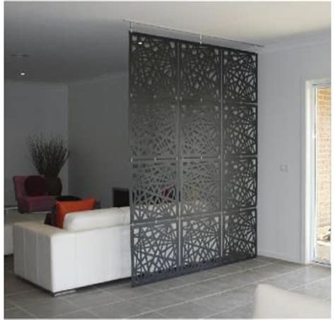 grid screen bedroom divider might do something like this