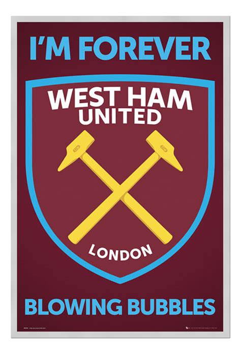 Im Forever Blowing Bubbles by Framed West Ham United I M Forever Blowing Bubbles Crest