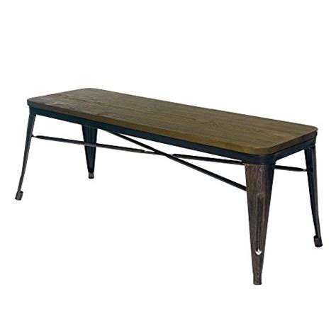 wood table with bench seat merax stylish distressed dining table bench with wood seat