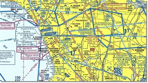 Los Angeles Sectional Chart by Vfr Charts Caa 1 500 000 Vfr Charts Ayucar
