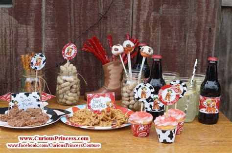 birthday themes unisex red vintage cowboy birthday party ideas photo 5 of 9